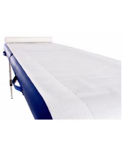 Draps d'examen double épaisseur plastifié blanc 60cmx40cm