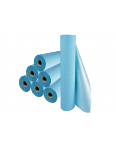 Rouleau de draps d'examen HARTMANN plastifiés bleu 38cmx50cm 180 formats