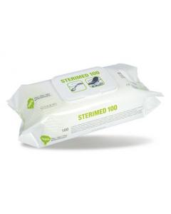 Lingettes épaisses nettoyantes, Sterimed Pack de 100 lingettes
