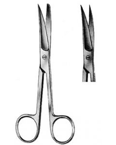 Ciseaux droits bouts pointus 14.5 cm