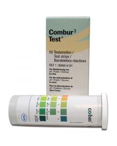 Bandelettes urinaires COMBUR 3E, boîte de 50
