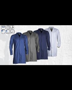 Blouse grise PARTNER, 100% coton, Taille S