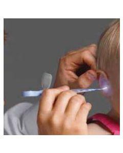 curette auriculaire avec lampe LED et loupe
