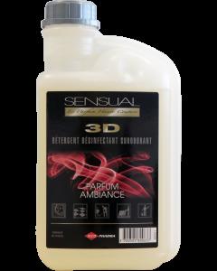 SENSUAL 3D - Détergent désinfectant surodorant - Parfum Ambiance , Bidon d'1 Litre