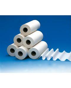 Rouleau demi-draps d'examen double épaisseur blanc 38cm x 25cm , rouleau de 150 formats
