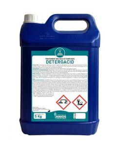 DETERG'ACID Détergant , désinfectant, moussant  , Bidon de 5 litres