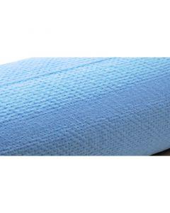 Drap d'examen plastifié bleu sans latex, 38 cm x 50 cm , 180 formats