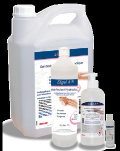 Eligel A, Gel désinfectant hydroalcoolique, Flacon 1 litre