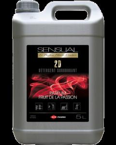 SENSUAL 2D - Détergent surodorant - Pamplemousse Rose , bidon de 5 litres