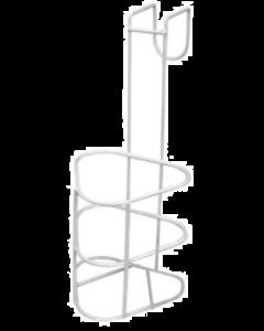 Porte urinal, pans coupés arrondis fil d'acier plastifié PE, sans bouchon, l'unité