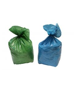 Sacs à déchets 110L BLEU, BD 36 microns, 700x1075mm, Carton de 200 sacs