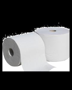 Bobine blanche en ouate de cellulose, Lisse, 1500 formats, Lot de 2