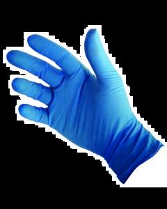 Gant vinyle bleu poudré alimentaire