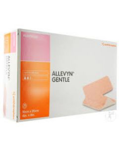 ALLEVYN GENTLE - Pansement micro-adhérent avec gel souple - 10cm x 20cm - La boite de 16