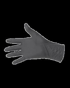 Gants nitrile noir épais sans poudre Premium taille L, Boîte de 100