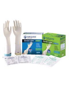 Gamme gants stériles latex non poudré taille 6.5/S