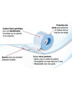 Micropore Siliconé 3M sparadrap chirurgical avec la couche adhésive en silicone