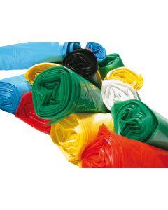 Sac à déchets rouge 50 litres, BD 30 microns, carton de 200 sacs