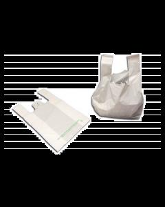 """Sac à bretelles 38x45cm blancs """"réutilisable"""", sachet de 500"""