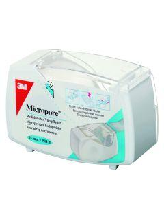 Micropore avec dévidoir hermétique blanc 1530P-1D  - 2,5cmx9,14m