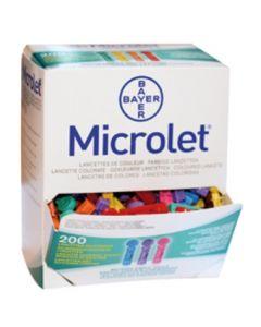 Lancettes Microlet Bayer - boite de 200
