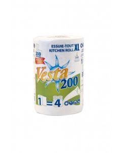 Essuie-tout blanc 200 formats , le colis de 9 rouleaux