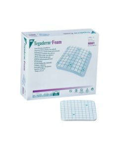 3M Tegaderm Foam - Pansement hydrocellulaire non adhésif 10x20cm, Rectangle