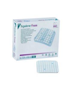 3M Tegaderm Foam - Pansement hydrocellulaire non adhésif 20x20cm, Carré