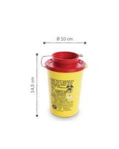 Container, collecteur d'aiguilles 0.6L DASRI AP Ø 10 x 14.5cm, base ronde