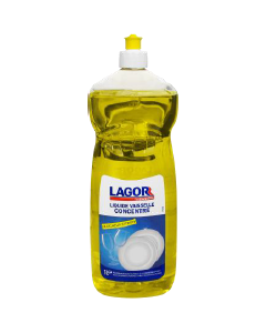 LAGOR - Liquide vaisselle Premium - Parfum Citron, Push-pull de 1L