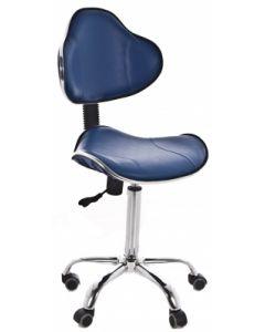 Tabouret ergonomique avec dossier, Bleu