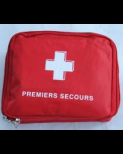 Sacoche vide rouge premier secours 15x12x4.5cm, l'unité