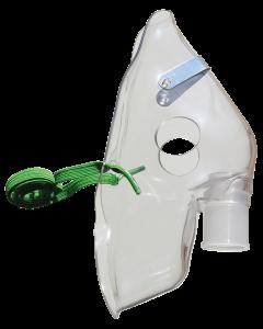 Masque aérosol 22mm Adulte standard pour nébuliseurs, l'unité