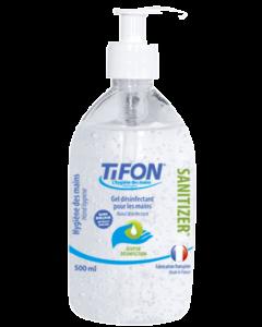 Gel hydroalcoolique SANITIZER Fabriqué en FRANCE Flacon de 500ml bec verseur