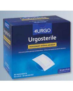 UrgoStérile, 10x7 cm, Pansement Adhésif Stérile Non-tissé Extensible, Blanc, Boîte de 50
