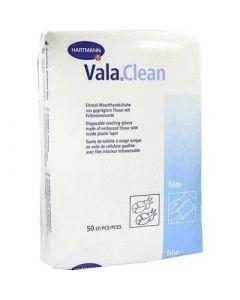 VALACLEAN FILM gant de toilette à usage unique en voile de cellulose gaufrée avec film plastique interieur intraversable  50 pièces